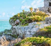 Photograph of Tulum one of the most important destinations for cancun airport transportation