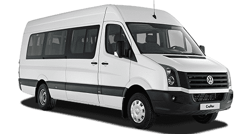 White passenger crafter designated for Cancun Airport Transportation Small Groups Service